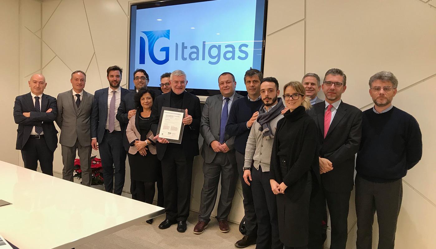 Italgas: confermata ed estesa la certificazione anticorruzione UNI ISO 37001:2016