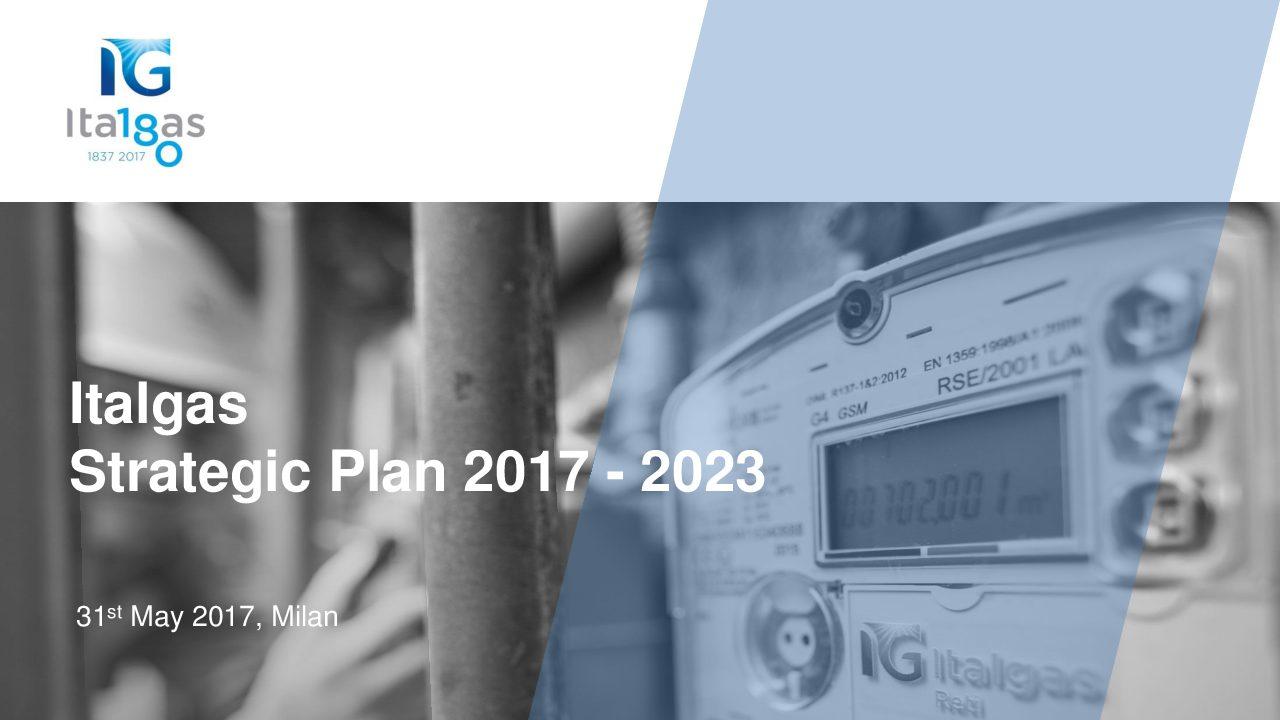 Presentation of Strategic Plan 2017 – 2023