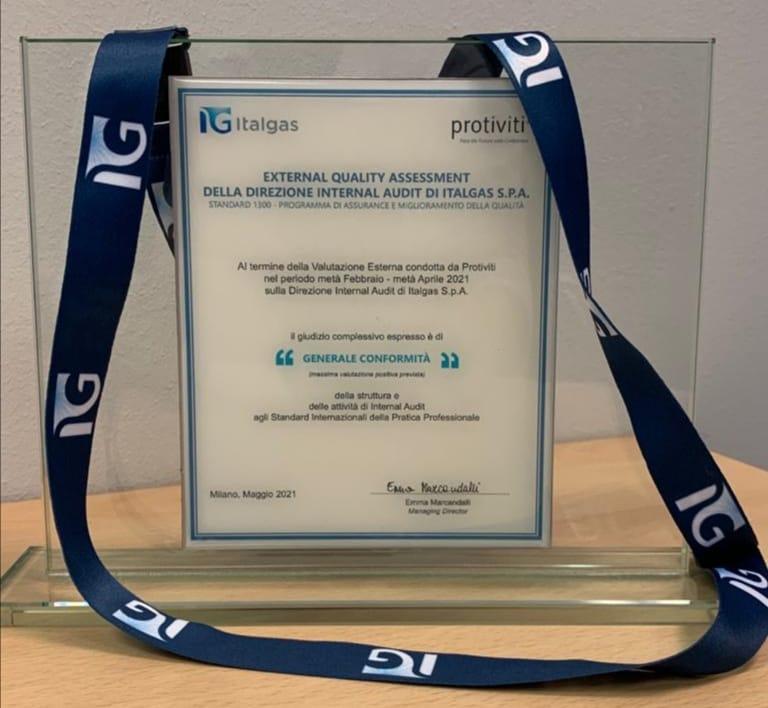 L'Unità Internal Audit di Italgas ottiene la certificazione Quality Assurance Review