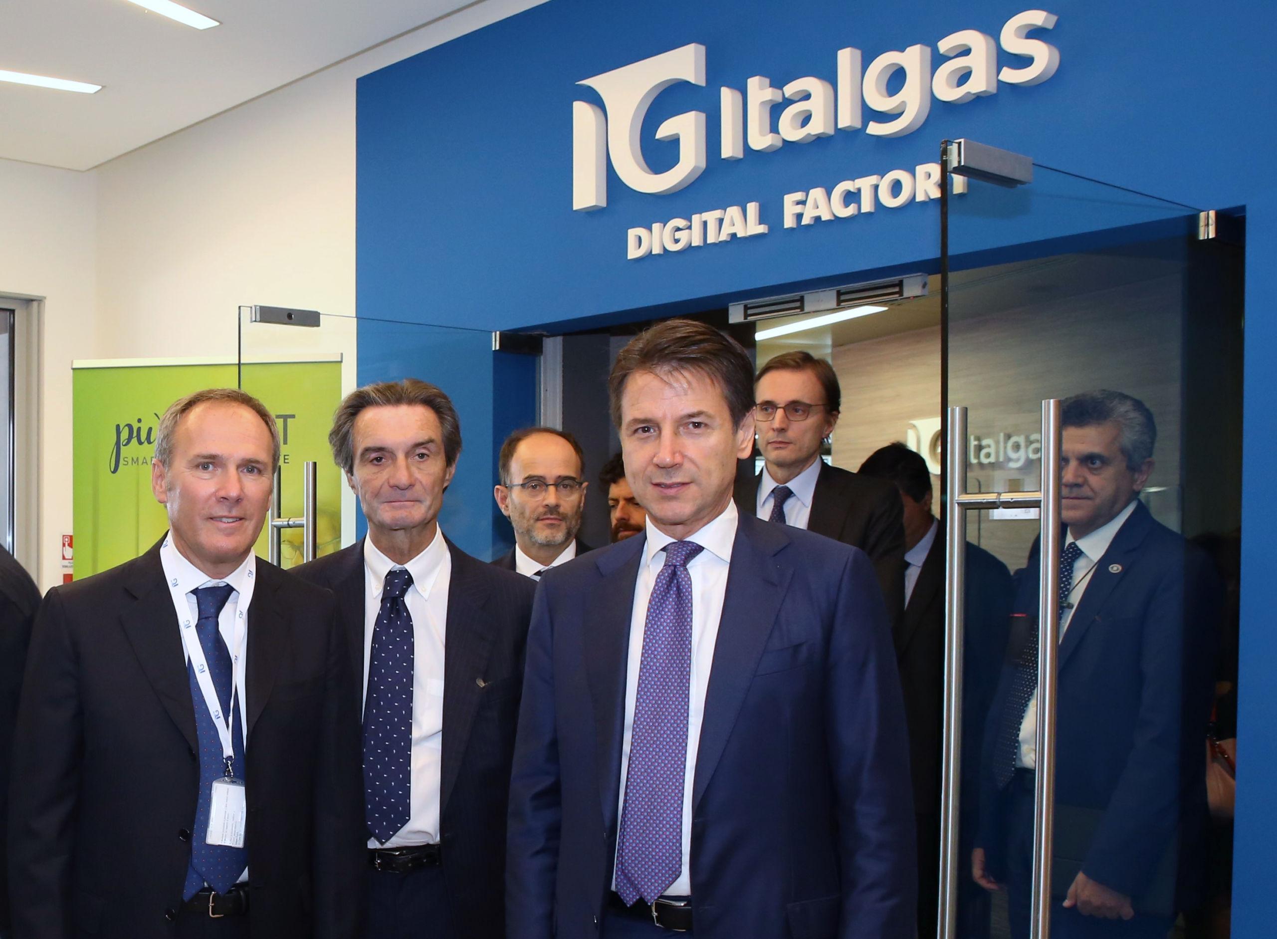 Italgas: il Presidente del Consiglio visita la sede di Milano e la Digital Factory