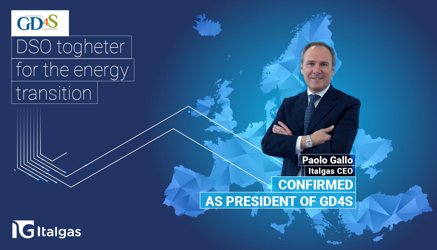L'Assemblea Generale di GD4S conferma  Paolo Gallo (CEO Italgas) alla presidenza dell'Associazione